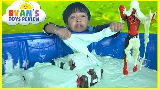 HOW TO MAKE GIANT SLIME GOO Easy Science Experiment for kids!