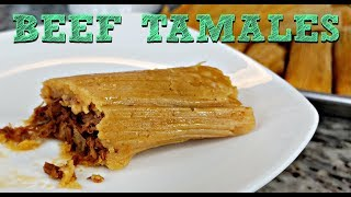 Soft and Tender BEEF TAMALES RECIPE   How To Make Tamales   Simply Mama Cooks