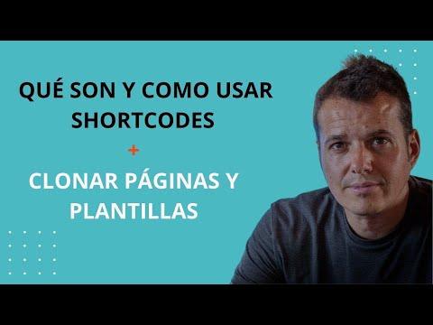 CURSO WORDPRESS GRATIS Cómo usar los Shortcodes, clonar páginas y duplicar plantillas