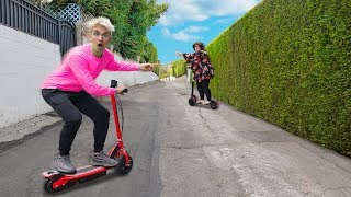 ELECTRIC SCOOTER CHASE to SPY ON MYSTERY NEIGHBOR!! (Tracking Device Evidence Found)