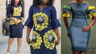 African Fashion Styles || Ankara Styles || Asoebi Styles || 2020 Ankara Jean Dress Styles For Babes