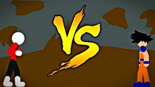 Goku vs jiren! ⚪Animação feita no draw cartoons 2⚪