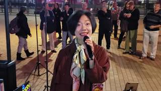 [完場曲]舊夢須記(新歌首唱),甜蜜蜜(全場大合唱),星,似是故人來,完場花絮.  香港旺角小龍女 龍婷 @中環摩天輪 10/12/19 Stacey Long