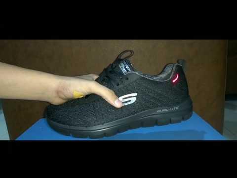 Unbox Sepatu Skechers Air-cooled memory foam