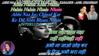 Abhi Na Jao Chhod Kar - Karaoke With Scrolling Lyrics Eng