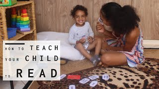 How To Teach A Child To Read Easily. Our 3 year old Learns to Read Phonetically (Part 4)
