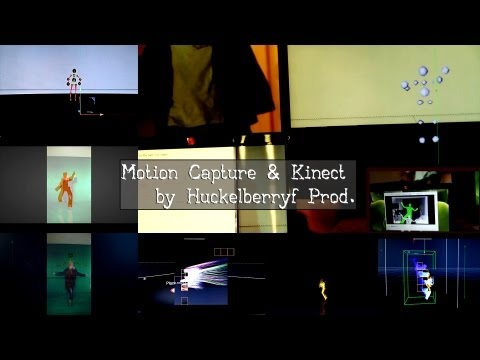 Kinect & pc,mocap in 3d,demoreel,animated motion capture,burn,hairy,bubbels,bones