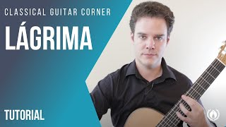 Lagrima Classical Guitar Lesson