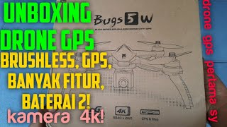 UNBOXING DRONE MJX BUGS 5W 4K! // DAPAT BATRE 2!! KAMERA 4K!! // DRONE GPS PERTAMA SAYA???? Juni/2020