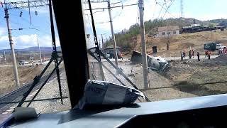 Большой Невер авария на переезде 16.05.18г