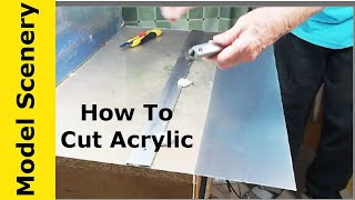 How To Cut Acrylic Sheet At Home Without Cracking