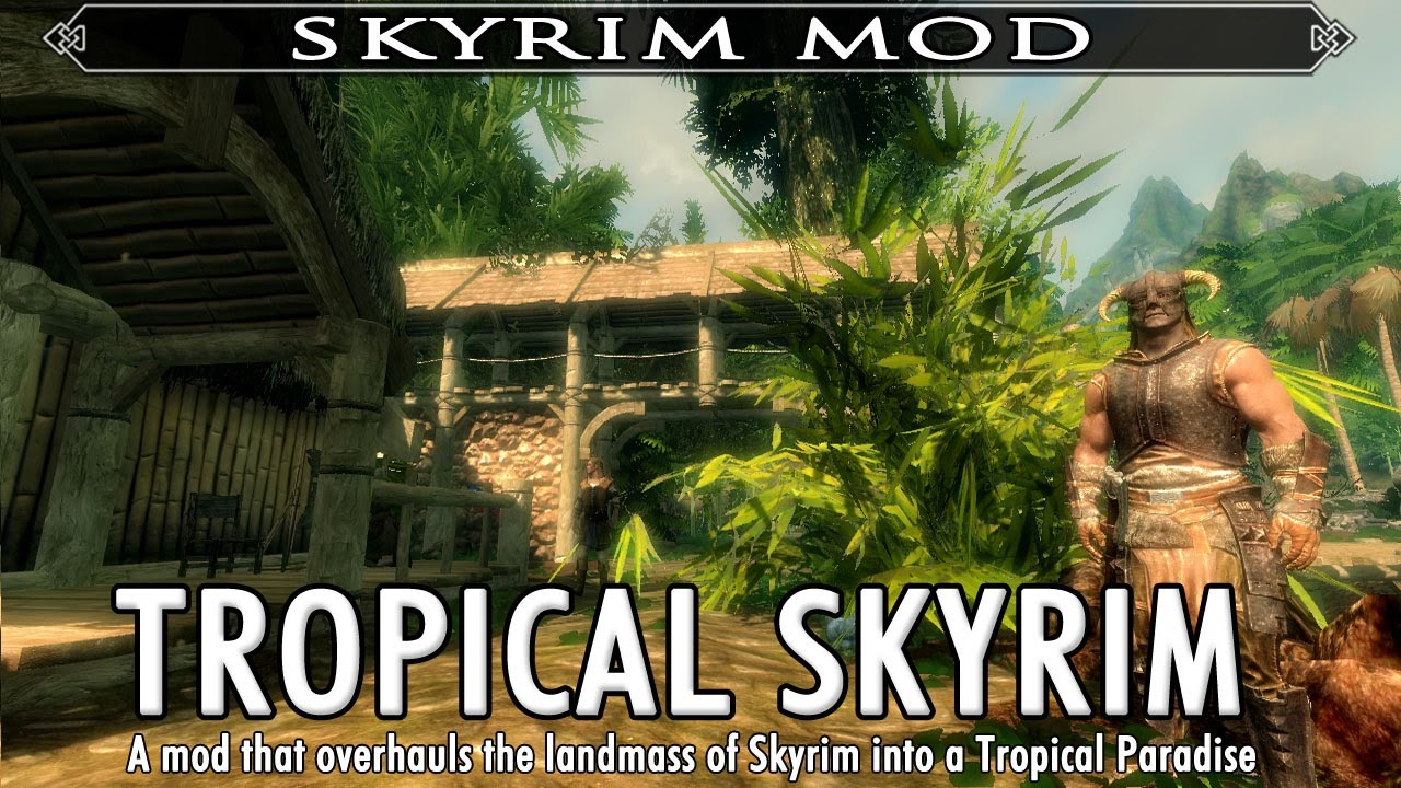 Look, It's A Mod That Makes Skyrim More Like Far Cry 3