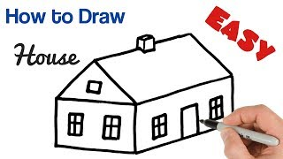 How to Draw House Easy   Art tutorial for beginners