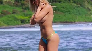 fitness model Valeria Orsini video bikini