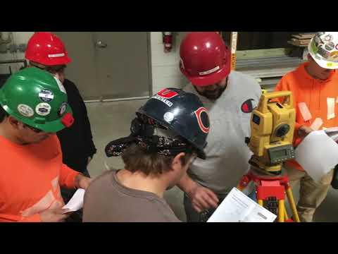LAYOUT TRAINING USING A TOTAL STATION - YouTube