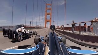 GoPro VR: Indycars over the Golden Gate Bridge