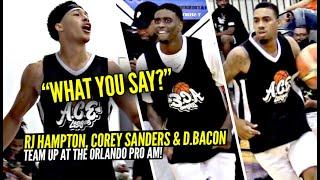 RJ Hampton, Corey Sanders & Dwyane Bacon TEAM UP & SHUT DOWN Hecklers at Orlando Pro Am!