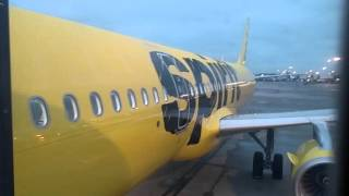 Spirit airlines boarding flight 231 flying from Atlanta to Fort Lauderdale