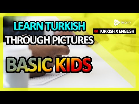 Learn Turkish Through Pictures  Turkish Vocabulary Basic Kids   Golearn