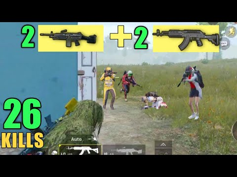 DOUBLE M249 + DOUBLE M762 = CHICKEN DINNER | 26 KILLS SOLO VS SQUAD | PUBG MOBILE