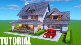 Minecraft Tutorial How To Make A Suburban House Minecraft Birch House Tutorial Minecraftvideos Tv
