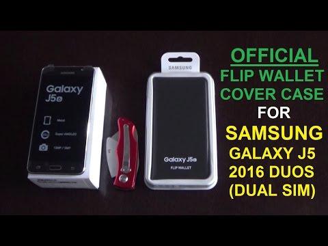# ΘΗΚΗ ΚΙΝΗΤΟΥ OFFICIAL SAMSUNG FLIP WALLET COVER CASE FOR GALAXY J5 2016 DUOS (DUAL SIM) GREEK