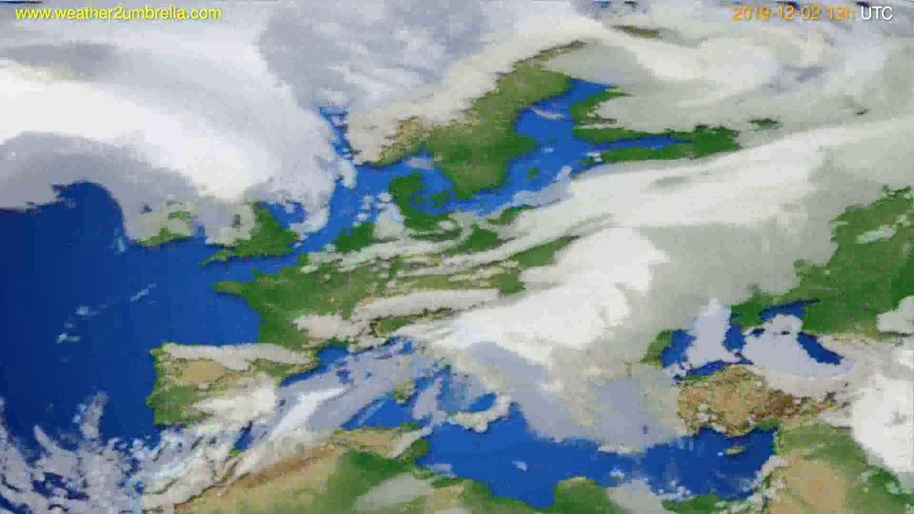 Cloud forecast Europe // modelrun: 00h UTC 2019-12-01