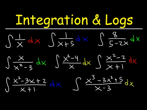 Integration of Logarithmic Functions By Substitution & Using Long Division, Calculus