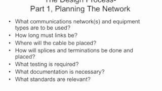 FOA Lecture 9: Fiber Optic Network Design, Part 1