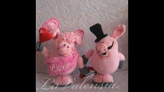 Описание вязания свинок-валентинок