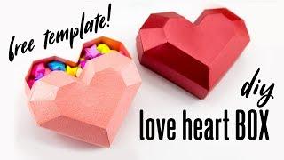 DIY Paper Heart Box Tutorial - Valentine's Day - Paper Kawaii