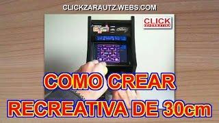 preview picture of video 'BRICO ARCADE Nº1: CREACION MAQUINA RECREATIVA 30cm - CLICK INFORMATIKA ZARAUTZ'