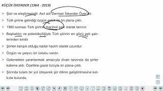 Eğitim Vadisi AYT Edebiyat 16.Föy Şiir 2 Konu Anlatım Videoları