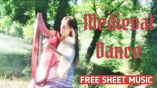 Medieval dance - with free sheet music for Celtic Harp