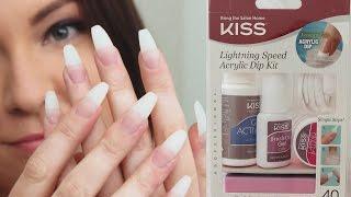 Kiss Lightning Speed Acrylic Dip Kit | Demo First Impression
