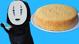 DIY NO FACE Costume & Japanese Sponge Cake Recipe  | Spirited Away Halloween