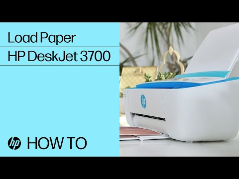 Loading Paper in the HP DeskJet 3700 Printer Series