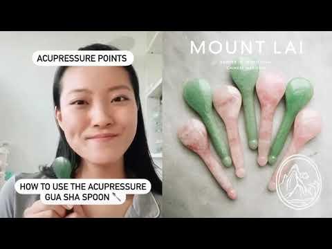 Mount Lai, The Jade Acupressure Gua Sha Spoon, 1 Tool