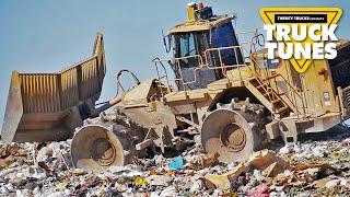 Landfill Compactor for Children   Truck Tunes for Kids   Twenty Trucks Channel