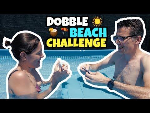 NUOVA SFIDA IN ACQUA: giochiamo a DOBBLE BEACH in PISCINA