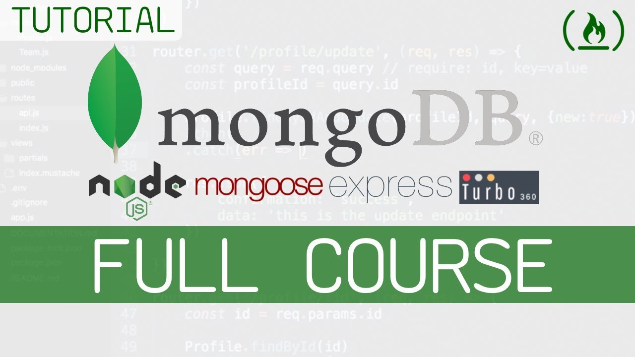 MongoDB Full Course w/ Node.js, Express, & Mongoose