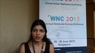 Ms. Vidhu Gupta at GHC Conference 2015 by GSTF Singapore