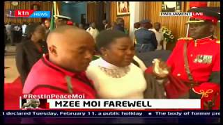Emotions reign high in parliament as woman openly mourns the death of mzee Moi