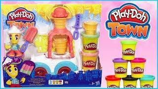 Play Doh Town 🍨 Mobilna lodziarnia 🚚 Lody dla każdego 🍦 bajka po polsku