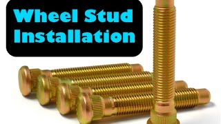 DIY Wheel Stud Replacement On Any Toyota, Or Spline Wheel Studs (AUDIO FIXED RE UPLOADED)