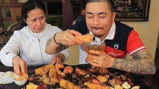 HOW TO COOK A SEAFOOD BOIL   MUKBANG