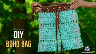 DIY MACRAME BOHO Bag | Macrame SUMMER Bag Tutorial