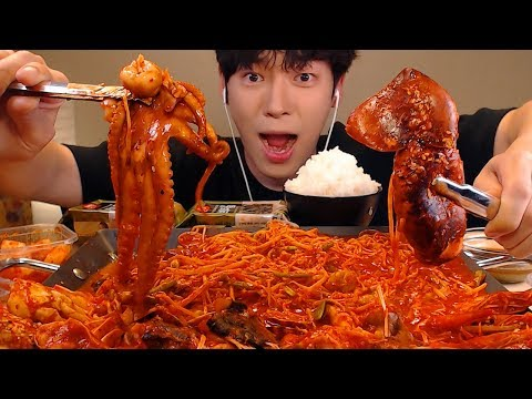 MUKBANG ASMR🦀매운 해물찜 먹방!낙지,오징어,꽃게,새우,조개 아구찜SEAFOOD EATING SOUNDS[SIO ASMR 시오]