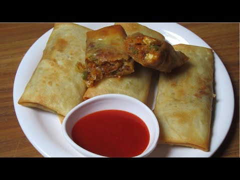Veg Spring Rolls - Vegetables Spring Rolls with Homemade Sheets - Easy & Quick Snack Recipe Screenshot 1