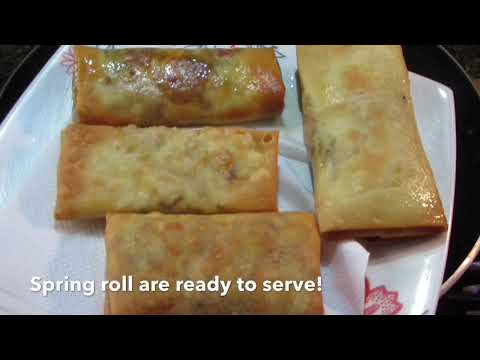 Veg Spring Rolls - Vegetables Spring Rolls with Homemade Sheets - Easy & Quick Snack Recipe Screenshot 4